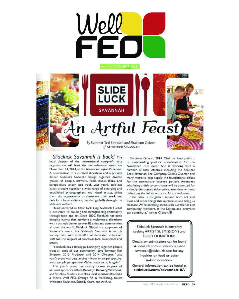 Well FED October 2014