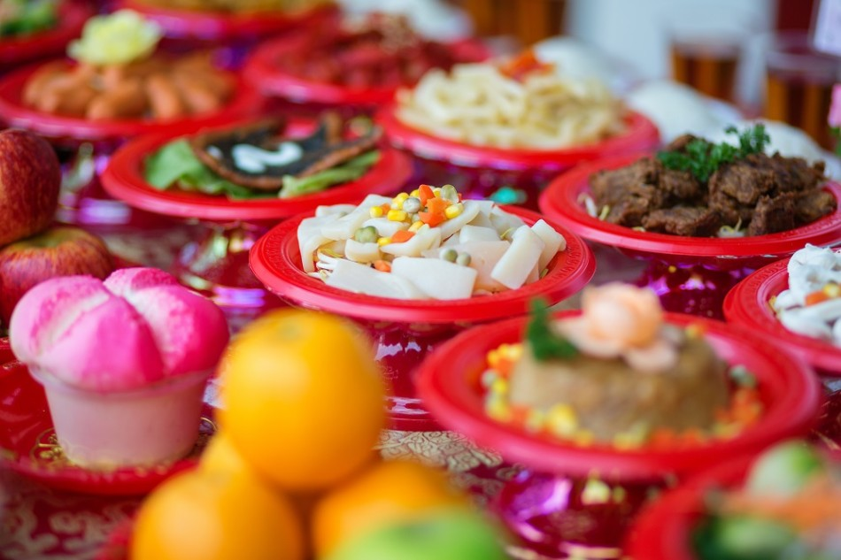 Food plates prepared for the believers