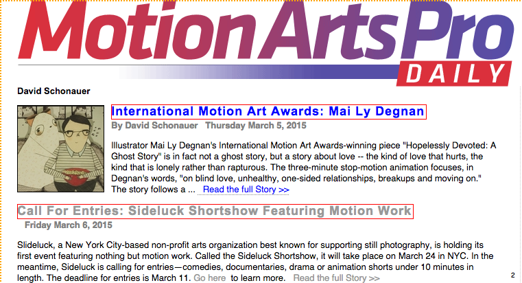 Motion Arts Pro Daily 3.6.15